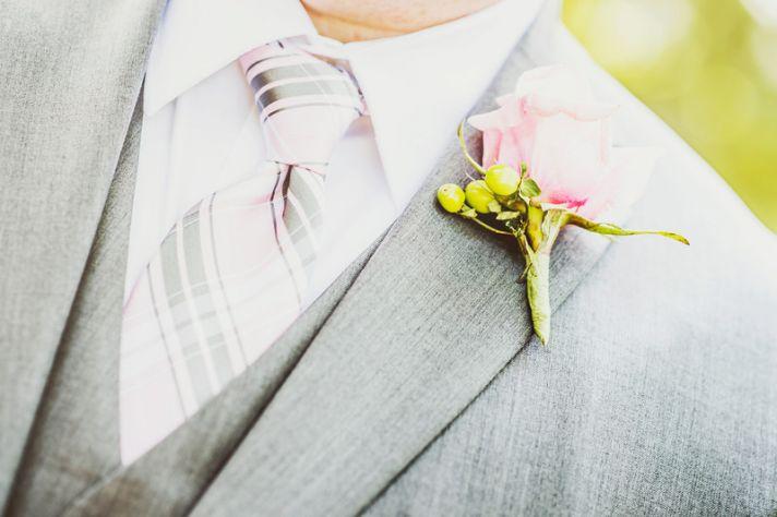 Romantic San Diego Wedding in Summer Groomsmen in Gray
