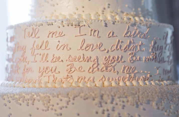 The Notebook themed wedding cake