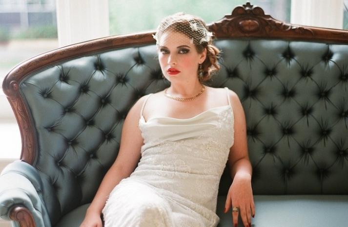 Cora wedding veil by Serephine