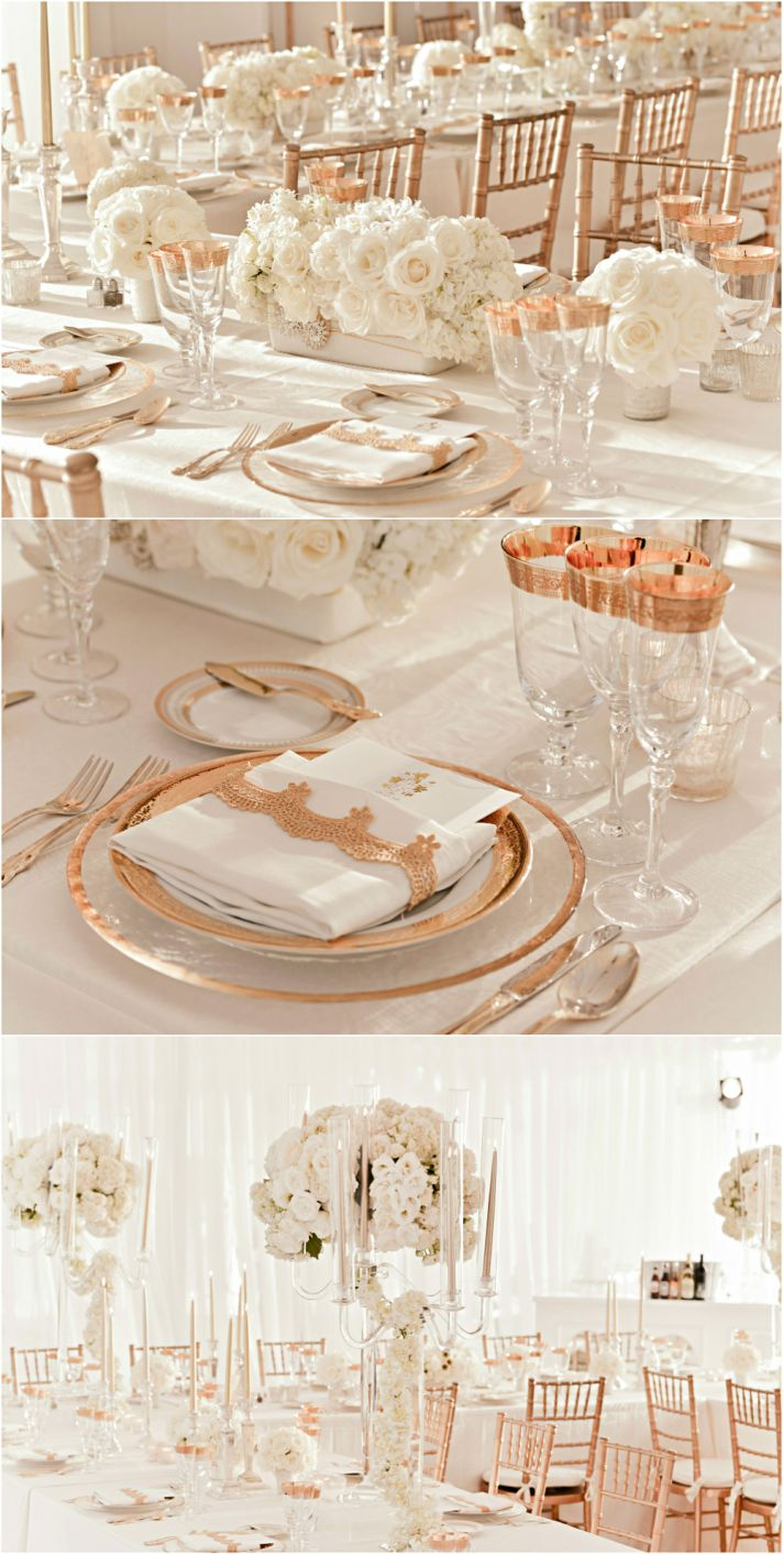 Rose gold wedding inspiration - Rosegold dekoration ...