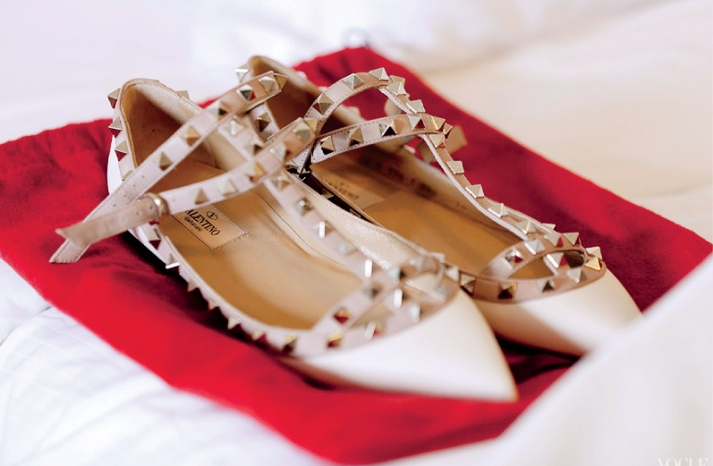 Valentino flats ballet wedding shoes