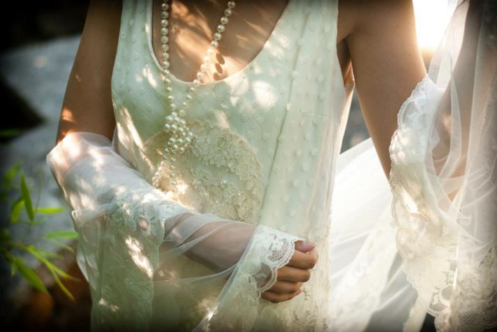 Downton Abbey inspired bridal style wedding gown veil and accessories