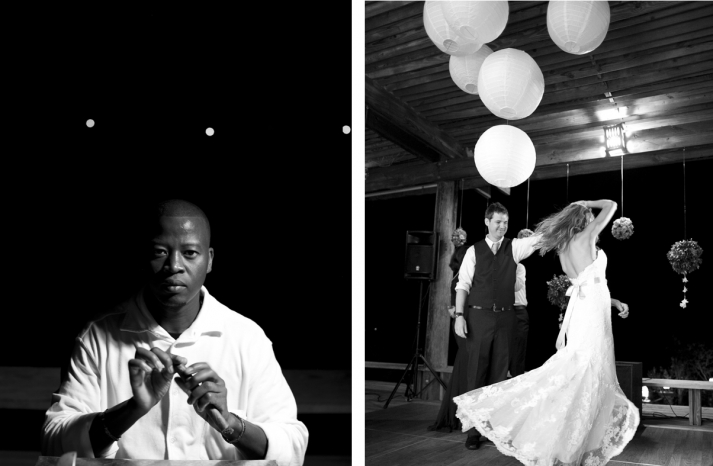 cigar roller and first dance at destination wedding
