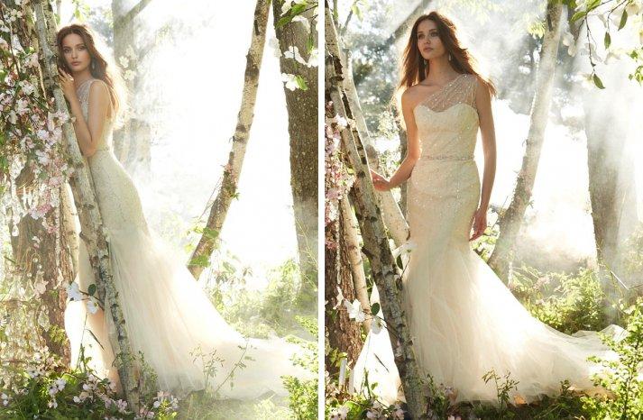 Jim Hjelm Bridal Fall 2013 wedding dress sheer one shoulder