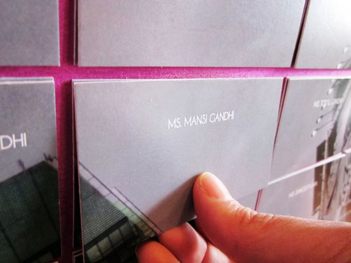 Wedding photo art escort card display