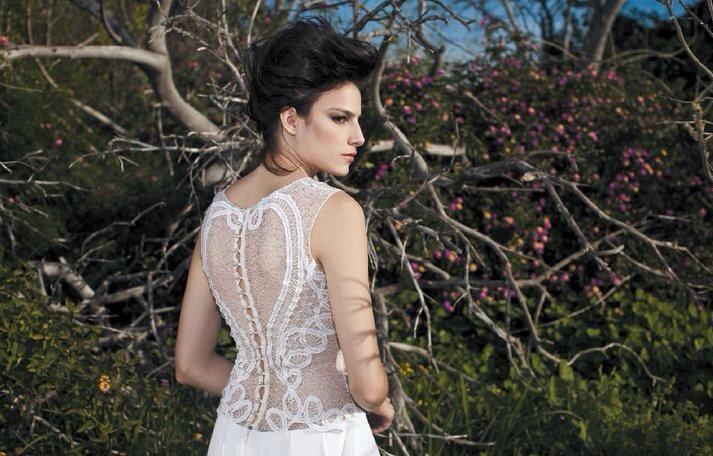Unique statement back wedding dress