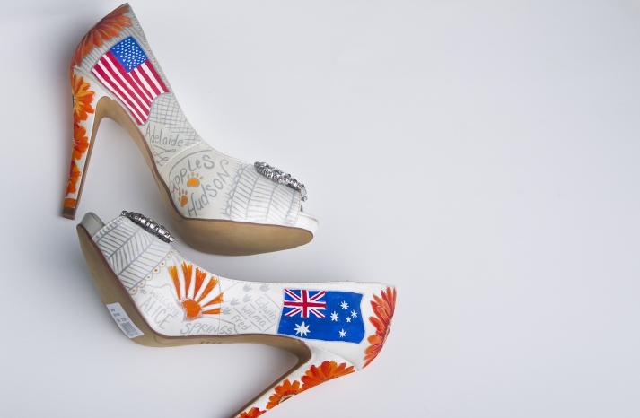 Bright custom wedding shoes for Summer 1