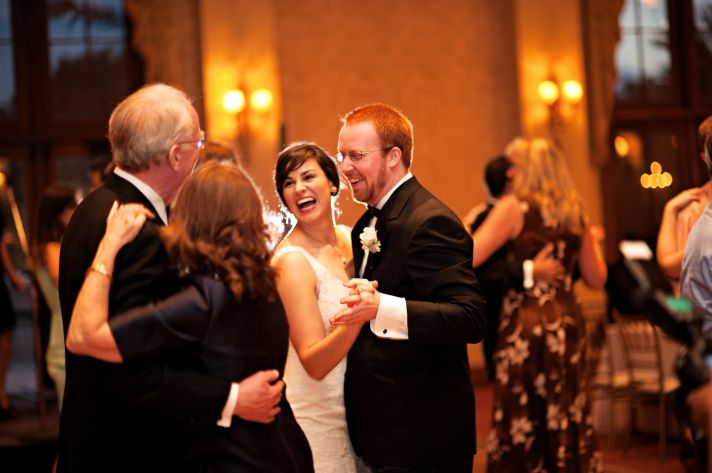 Bride and groom dance at Orlando reception venue