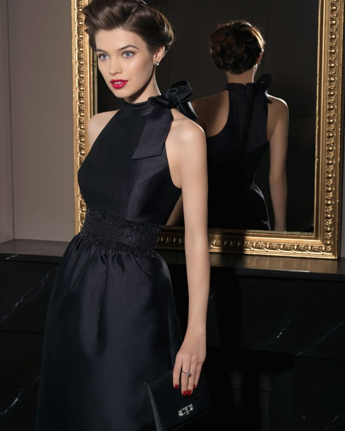 Gorgeous 2014 Bridesmaid Dresses from Aire Barcelona chic black halter