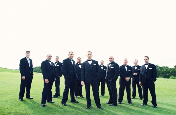 Black Tie Wedding All the Men in Tuxes