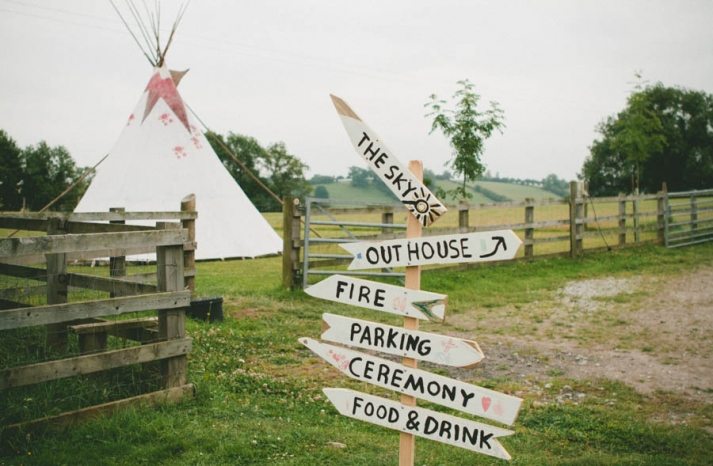 Rustic glamping wedding with teepees