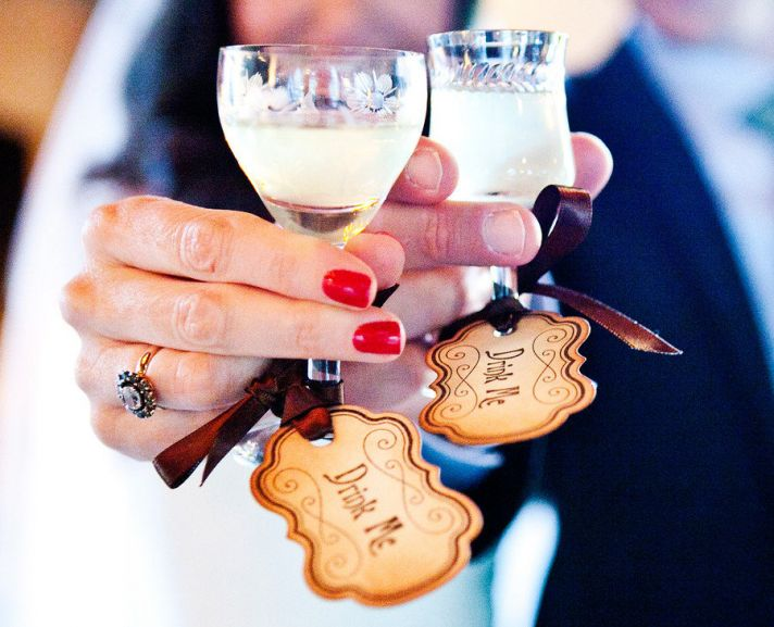 drink me wedding favor tags