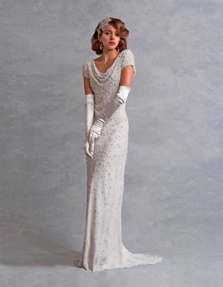 wedding dress inspired by the 1930s Eliza Jane Howell bridal 2