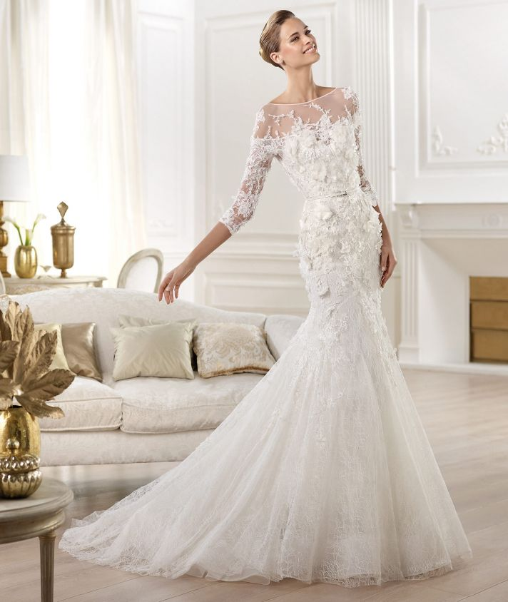 Elie Saab Wedding Dress 2014 Pronovias Bridal Cignus