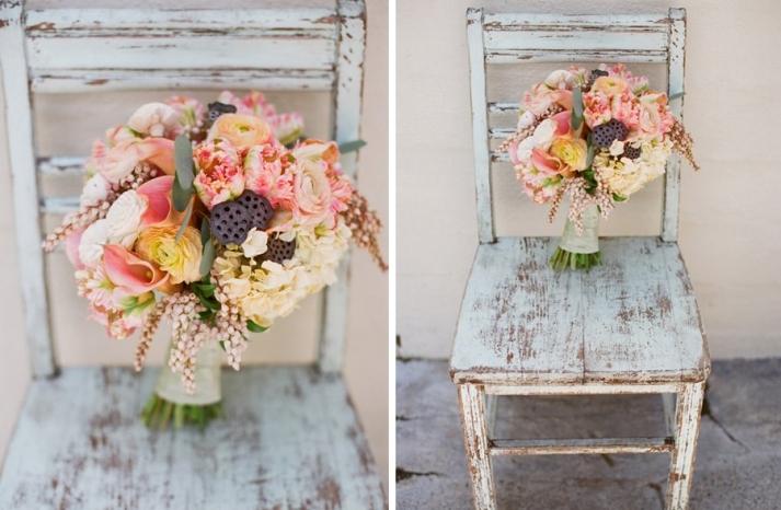 Whimsical vintage garden wedding bouquet