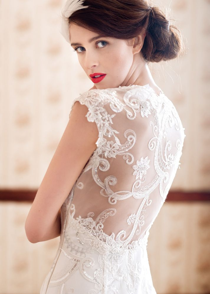 Stunning Statement Back Wedding Dress by Charlotte Balbier