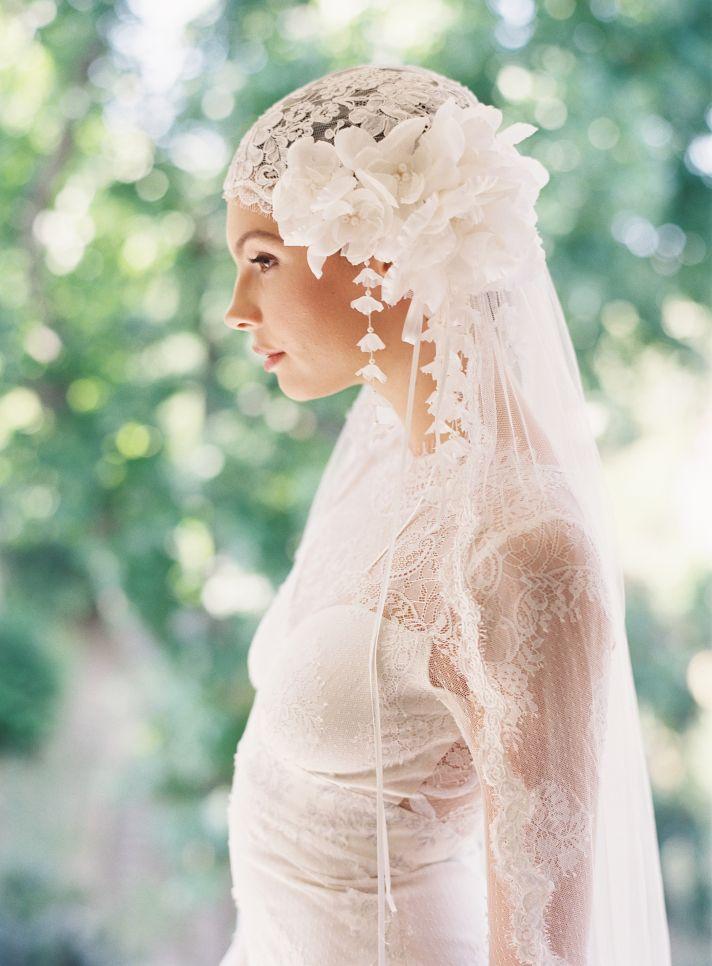 bohemian juliet cap wedding veil