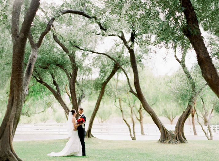 Real wedding in Simi Valley California first look approach