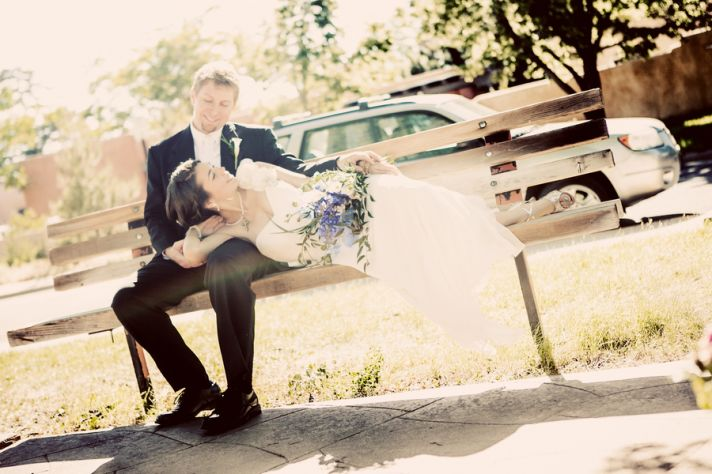 black and white wedding ring shot