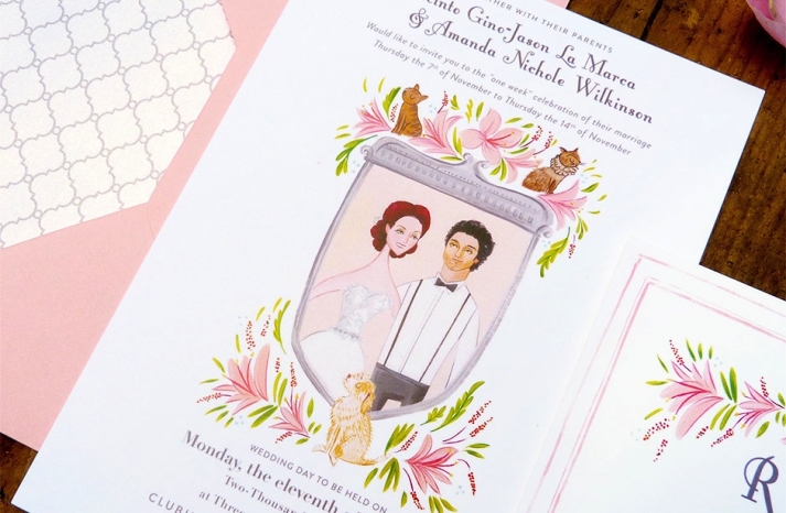 beautiful wedding illustrations and portraits3