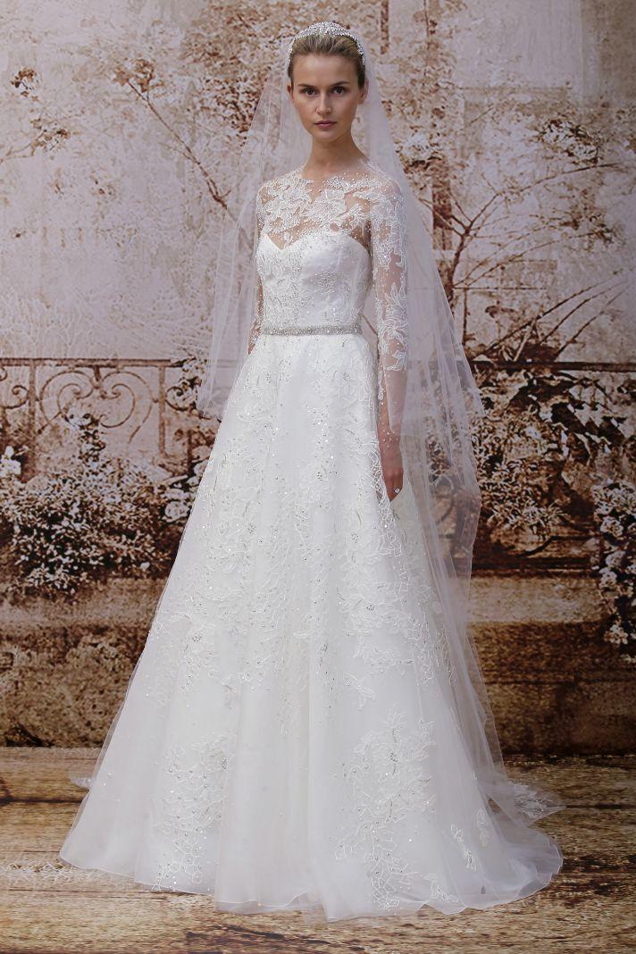 Monique Lhuillier Fall 2014 wedding dress look 16
