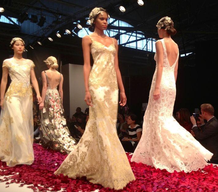 Claire Pettibone bridal runway fall 2014 1
