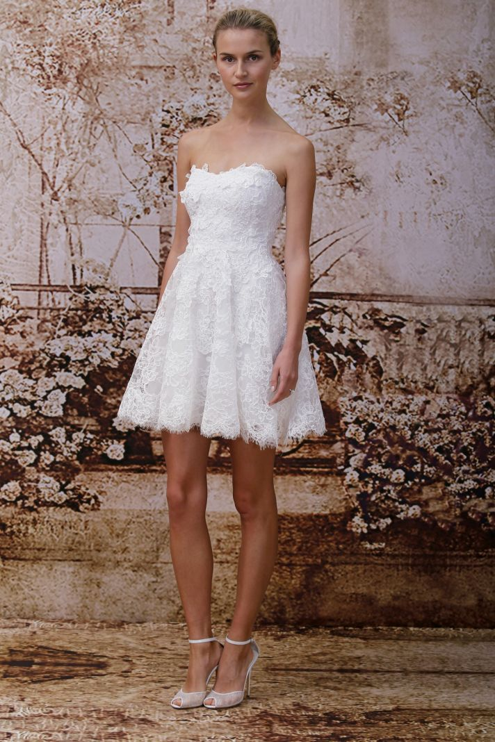 Wedding dress by Monique Lhuillier Fall 2014 bridal Look 6