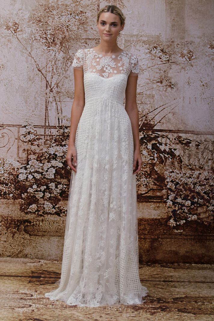 Monique lhuillier s secret garden wedding dress collection for Wedding dresses for outside
