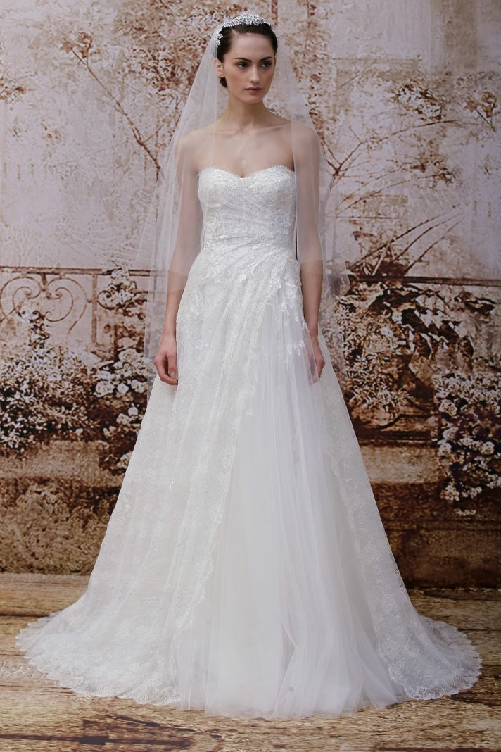 Wedding dress by Monique Lhuillier Fall 2014 bridal Look 22
