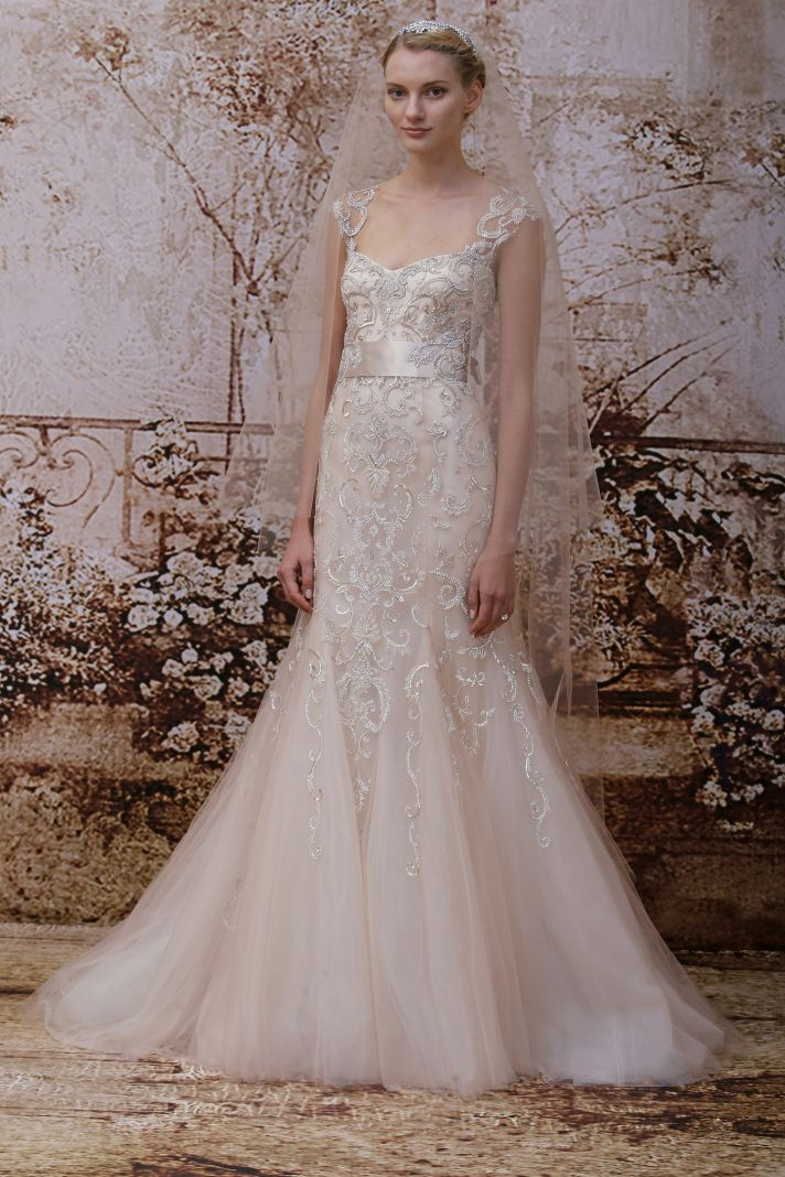 Wedding dress by Monique Lhuillier Fall 2014 bridal Look 27