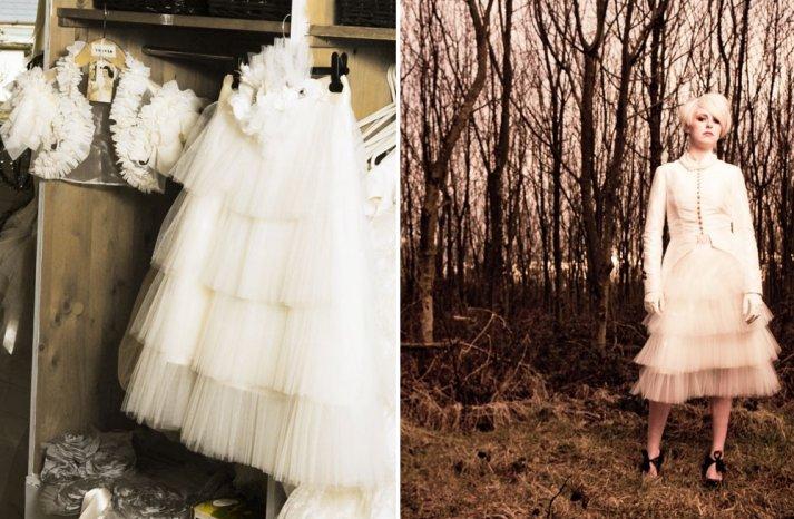 tulle tiered ruffles wedding skirt