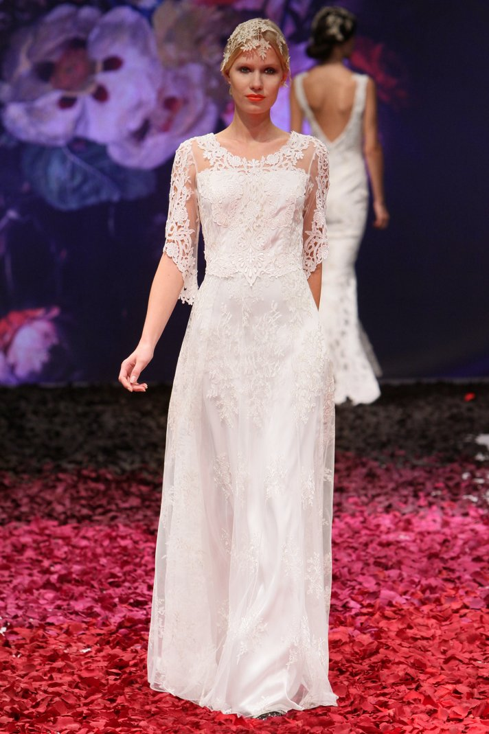 Julia wedding dress by Claire Pettibone 2014 Still Life bridal collection