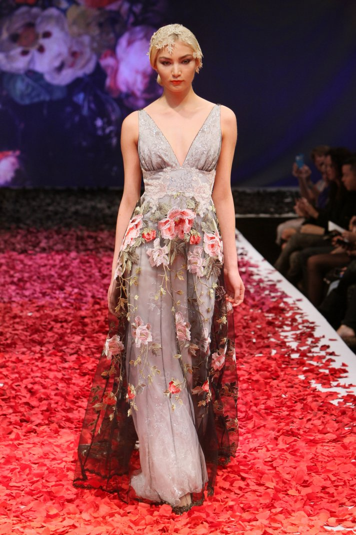 Raven wedding dress by Claire Pettibone 2014 Still Life Bridal Collection