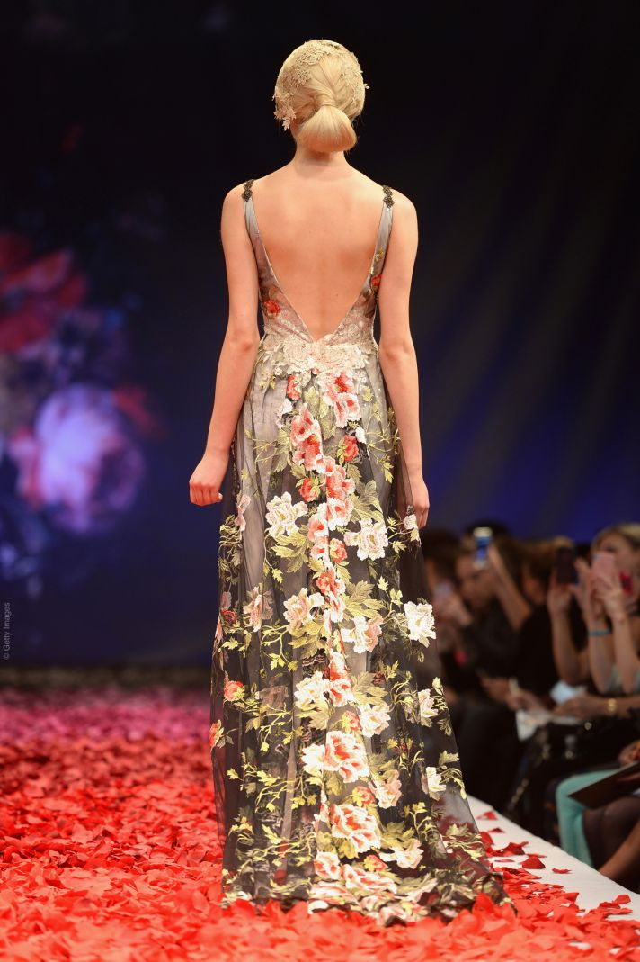 2014 runway report dramatic romance by claire pettibone for Wedding dress claire pettibone