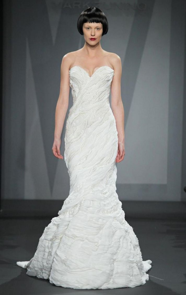 Mark Zunino wedding dress for Kleinfeld Fall 2014 Bridal 2