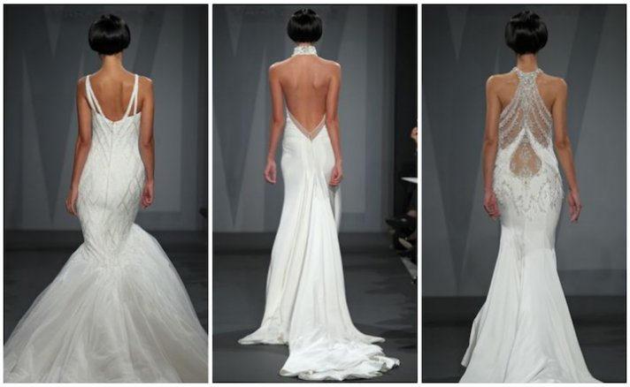 statement wedding dress backs by Mark Zunino