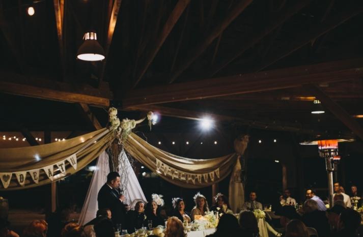 Portland real wedding toasting time