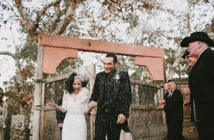 Portland real wedding newlyweds showered with love