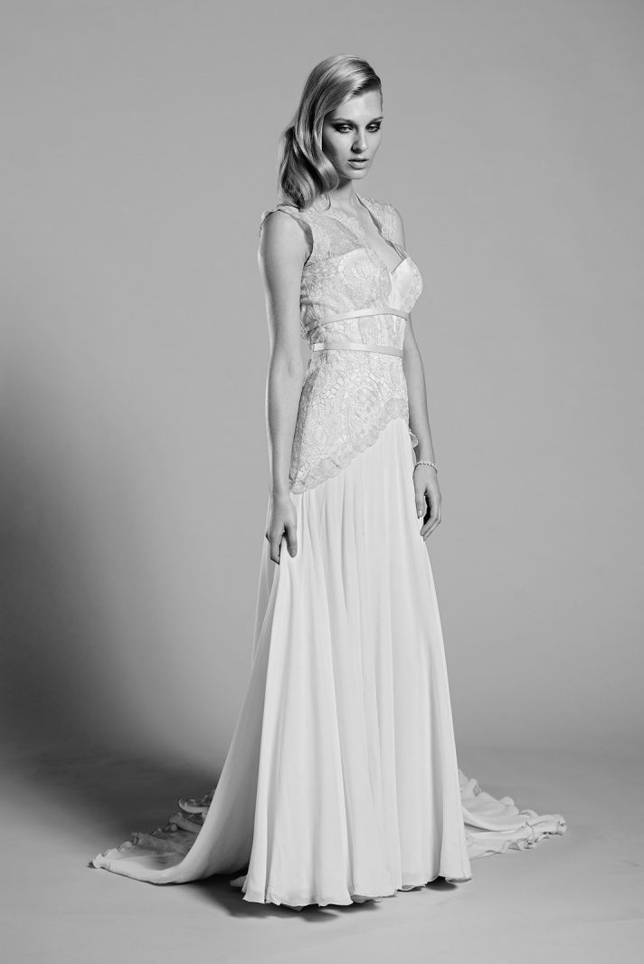 Lilac wedding dress by Mariana Hardwick 2014 bridal