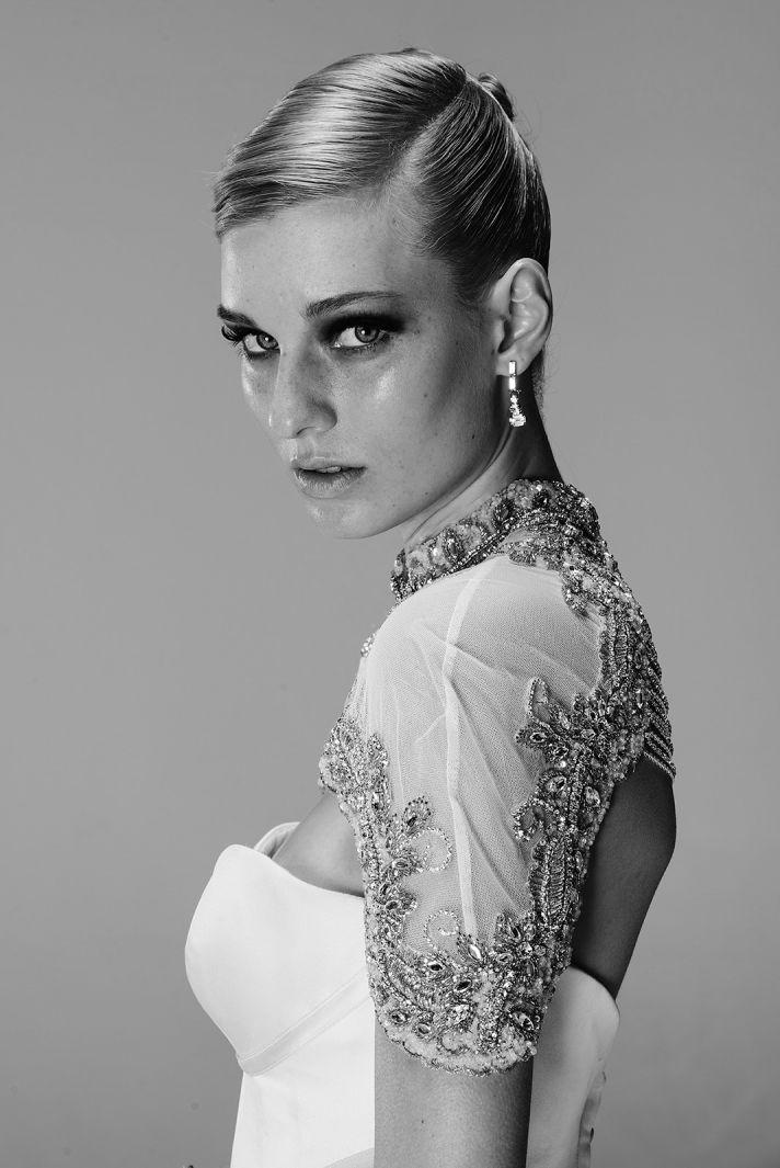 Black Angelette wedding dress by Mariana Hardwick 2014 bridal