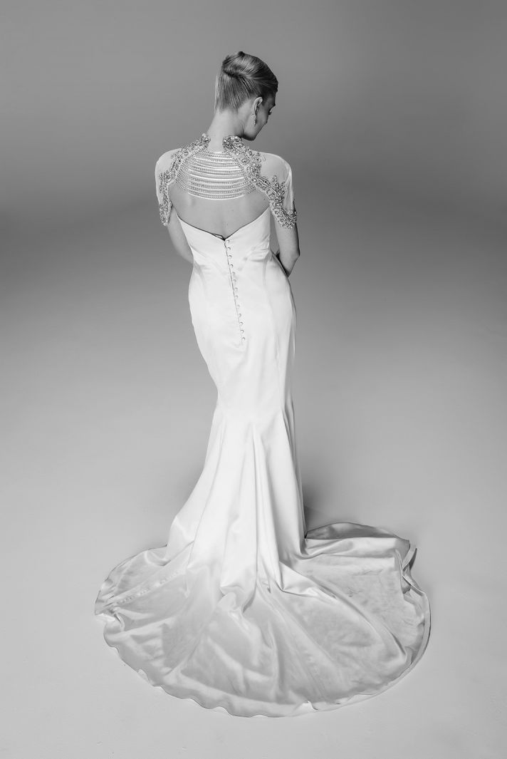 Black Angelette wedding dress by Mariana Hardwick 2014 bridal