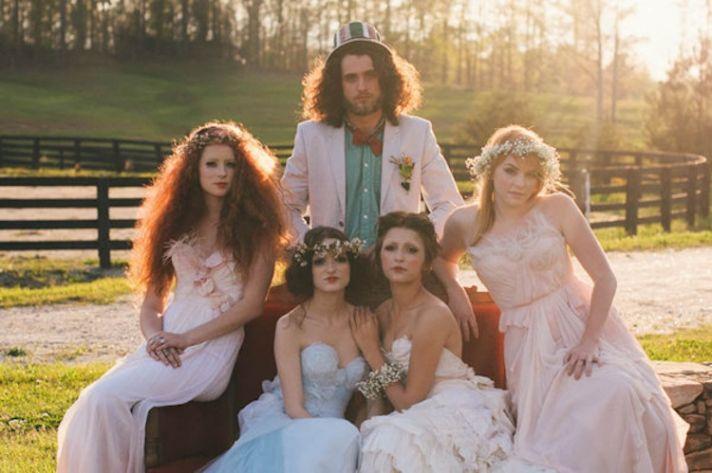 Alice in Wonderland Bridal Party