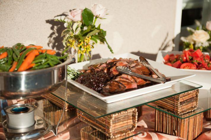 North California vineyard wedding buffet