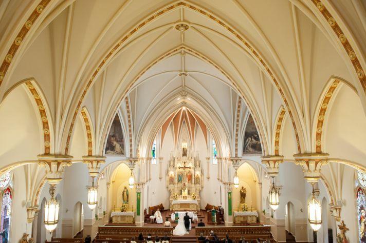 Catholic church wedding ceremony venue