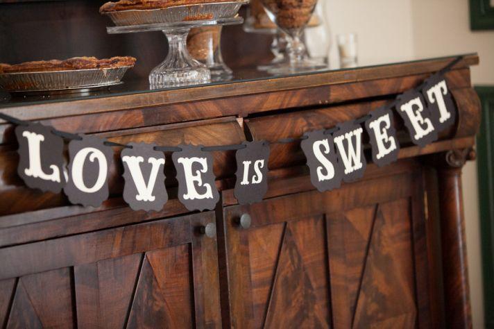 Love is Sweet dessert bar sign