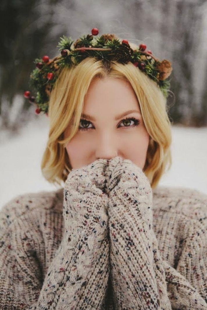 Winter bridal headpiece