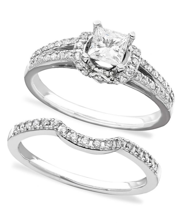 White Gold With Matching Bands Engagement Ring ISR2905TQ