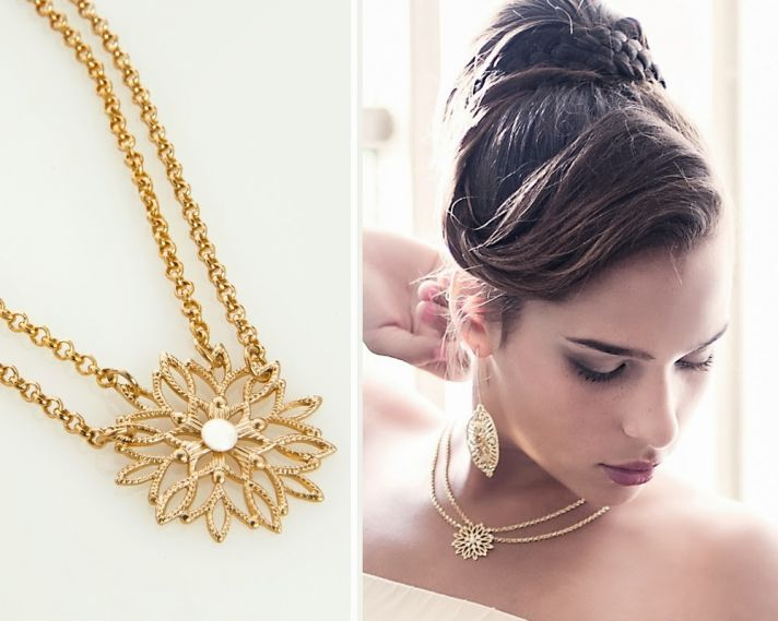 Gold bridal bling