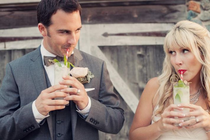 Fun real wedding couple