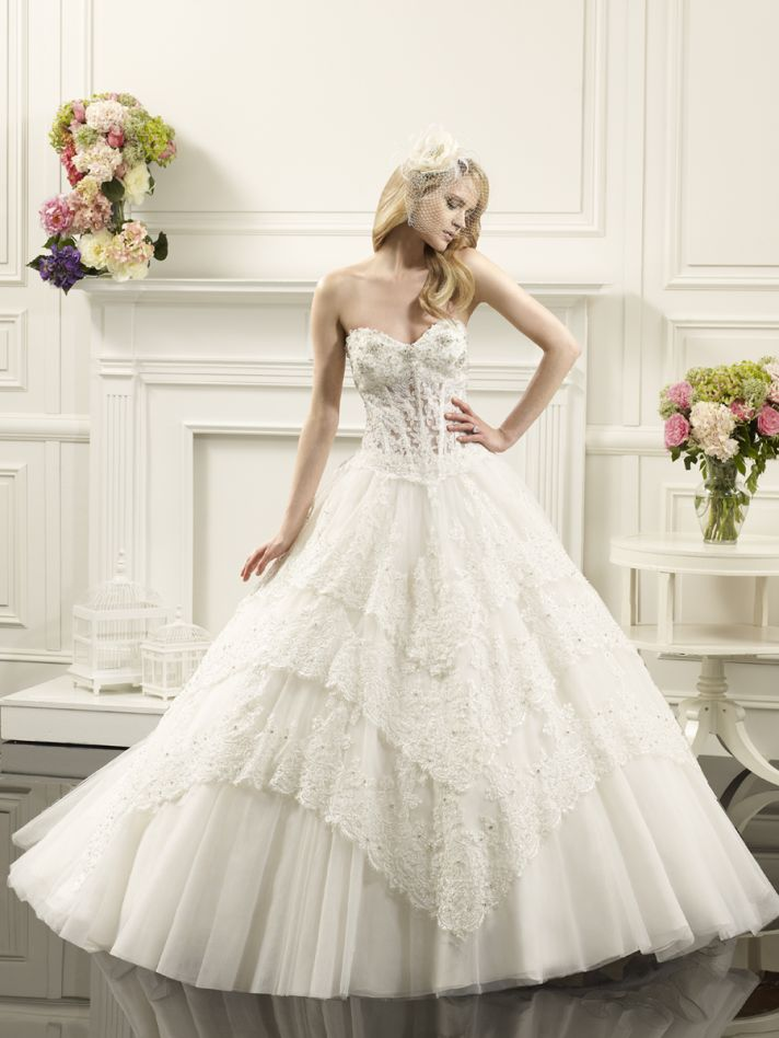 Layered ball gown from Val Stefani